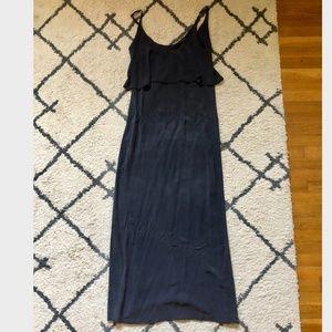 Gypsy 05 Silk Maxi Dress (Size S, Charcoal Grey)